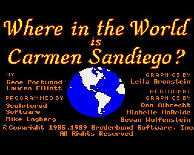 A La Poursuite De Carmen Sandiego