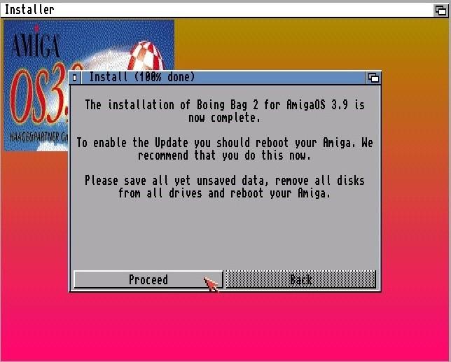 installation AmigaOS 3.9