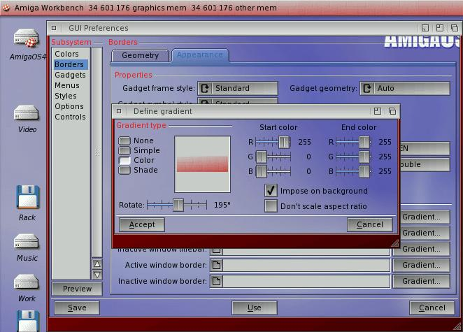 GUI AmigaOS 4.0