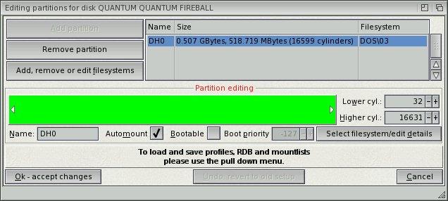 Installation d'AmigaOS 4 Pre-Release