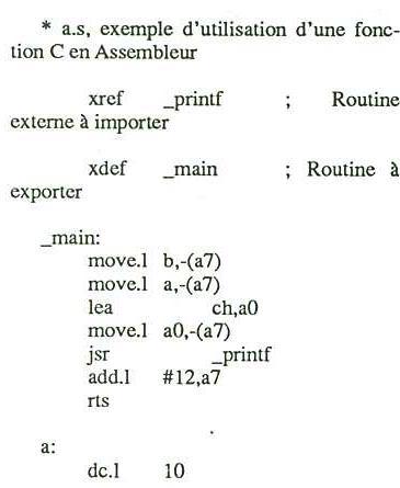 C et assembleur