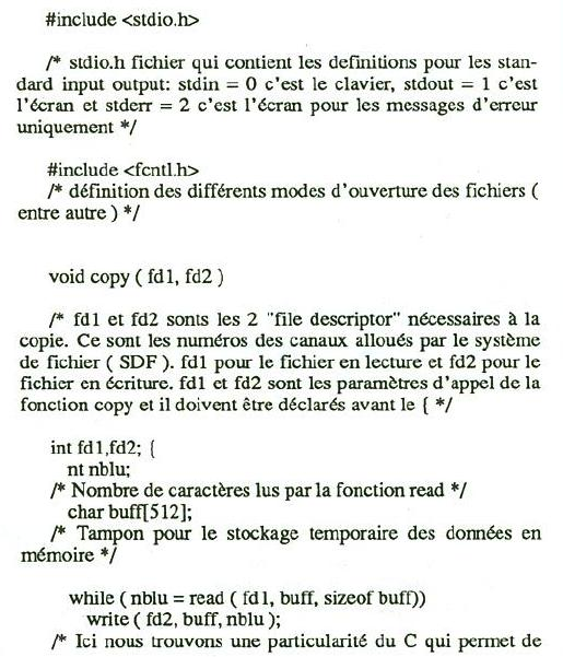 Commande Copy