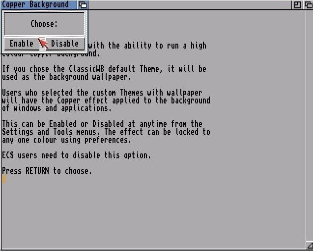 installation ClassicWB 3.9