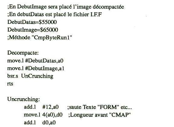 Compactage de données sur Amiga