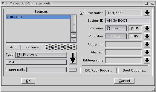 Créer un CD auto-amorçable sur AmigaOS 4