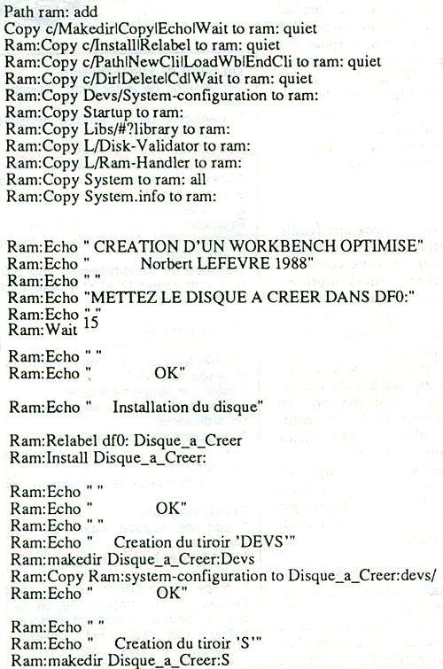 Créer disquette démarrage rapide
