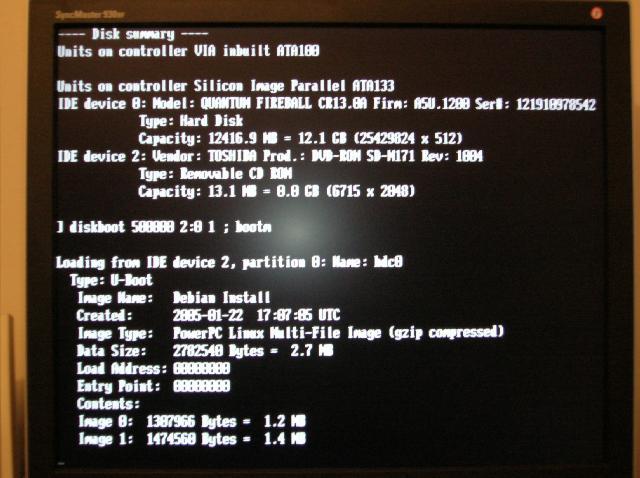 Debian Woody sur AmigaOne