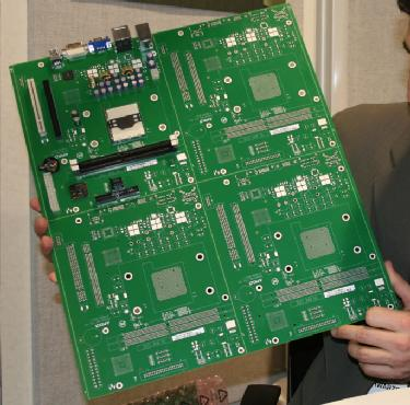 Projet de carte mère DTX (244x200 mm) présenté par AMD