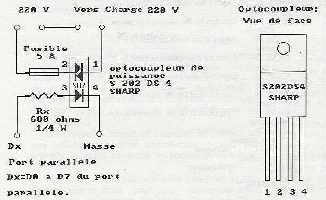 interface puissance port parallèle