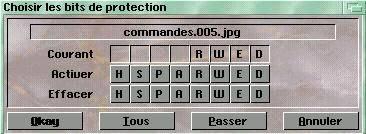 Protection des fichiers