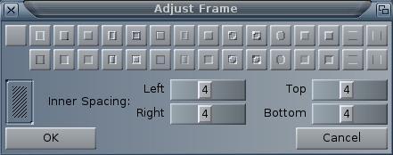 MUI - adjust frame