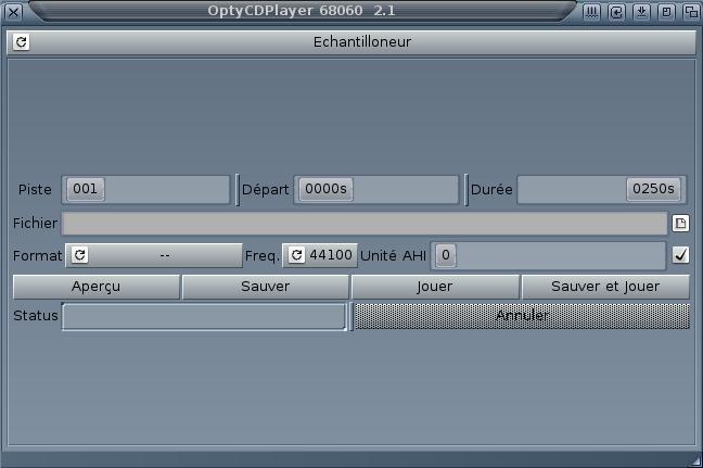 OptyCDPlayer Échantilloneur