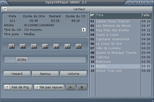 OptyCDPlayer Lecteur