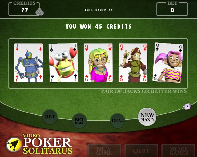 Video Poker Solitarius