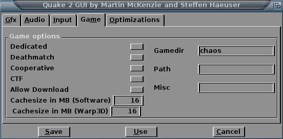 La GUI de Quake 2