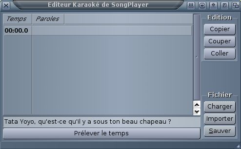 SongPlayer - Éditeur de karaoké