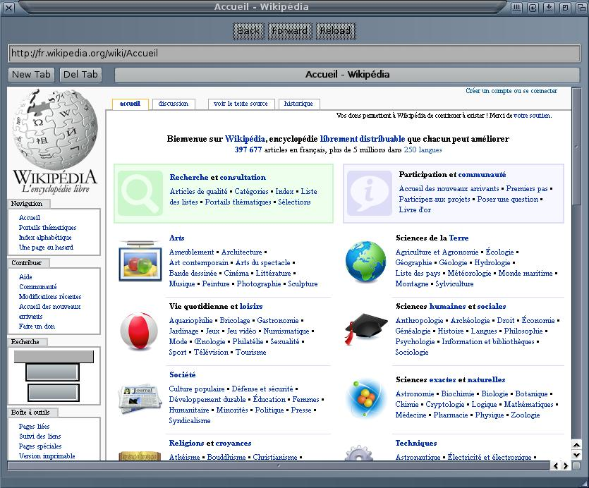 Wikipédia sous Sputnik
