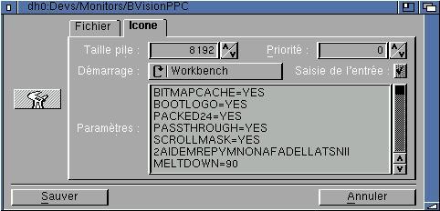 Réglages CGX pour BVisionPPC