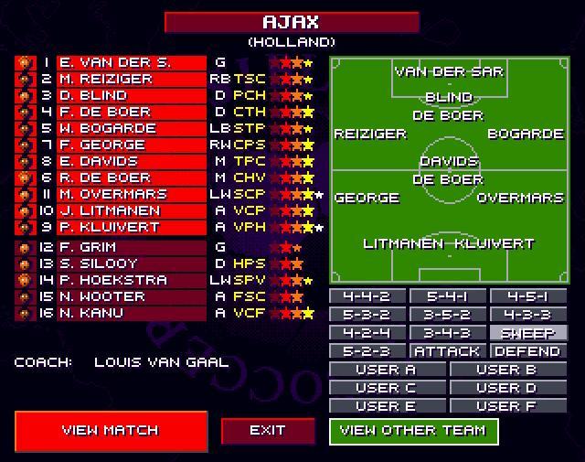 SWOS 95-96 European Championship Edition