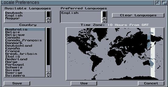 Préférences AmigaOS 3.1