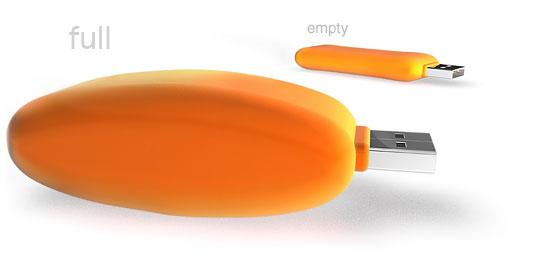 Clé USB gonflable