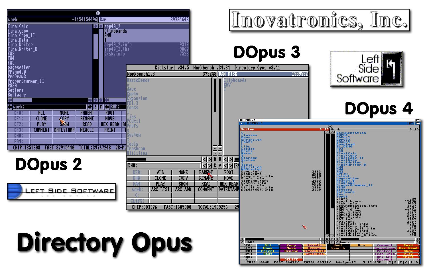 Directory Opus 2, 3 et 4