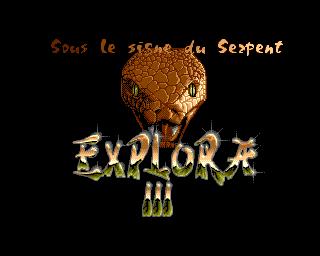 Explora 3: Sous Le Signe Du Serpent