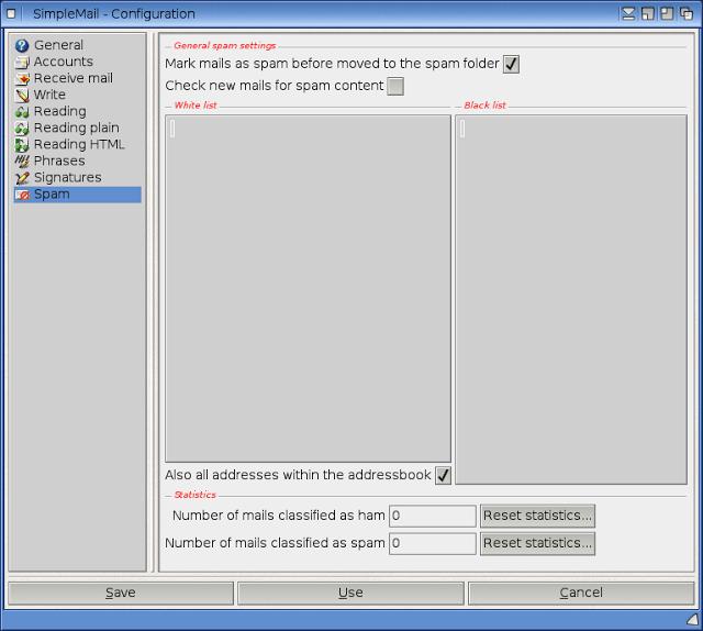 Utiliser Gmail/IMAP avec SimpleMail 0.41