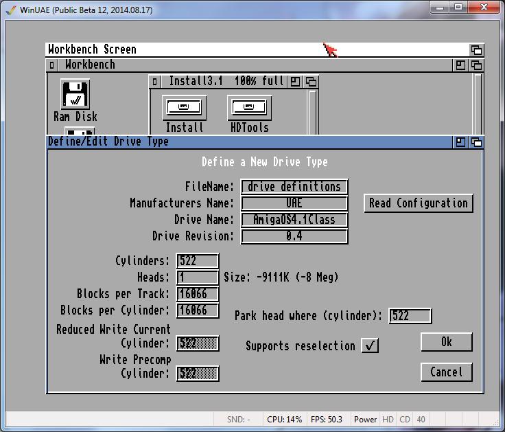 AmigaOS 4.1 sur WinUAE