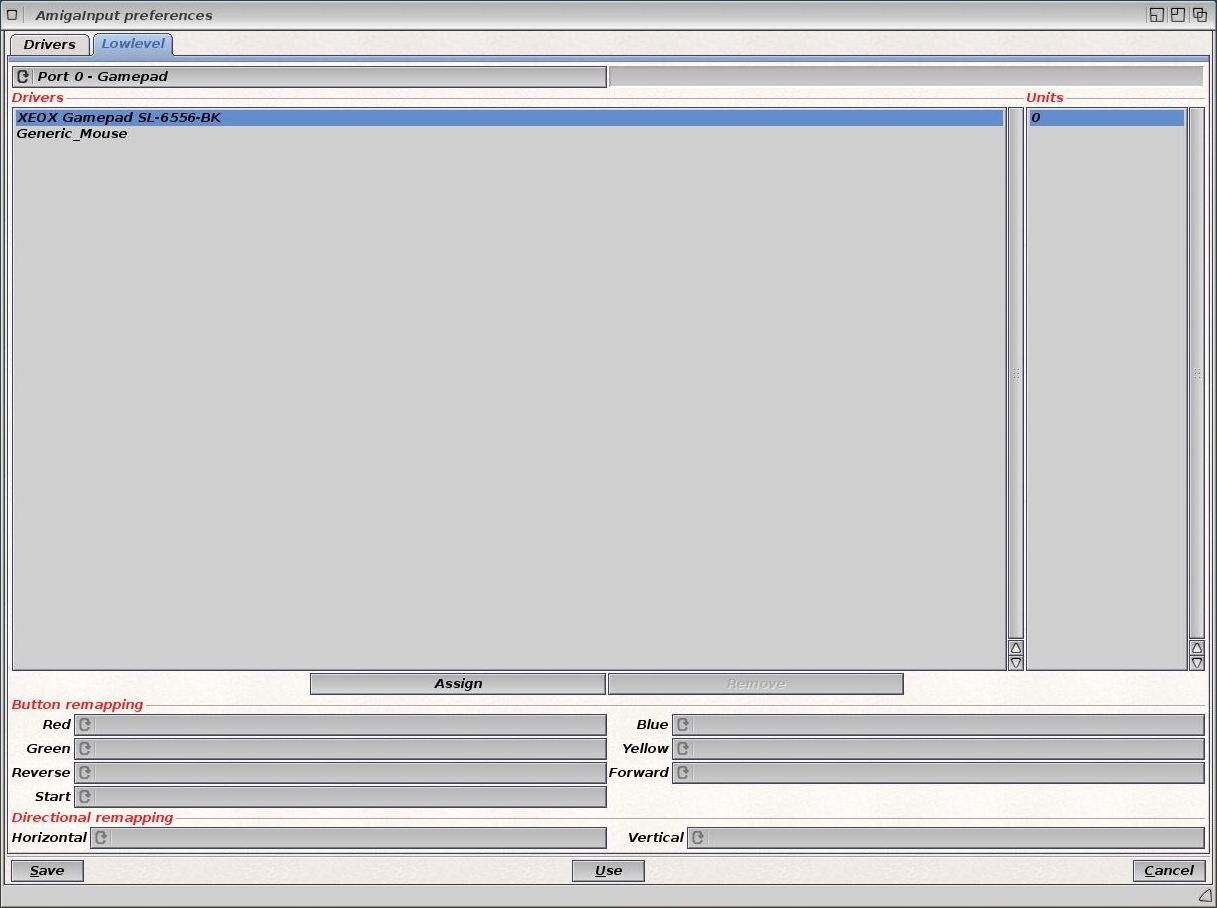 Manettes AmigaOS 4.1