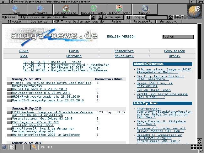 IBrowse contre NetSurf