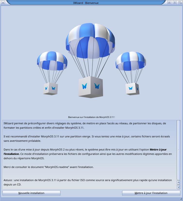 Installation MorphOS 3.11