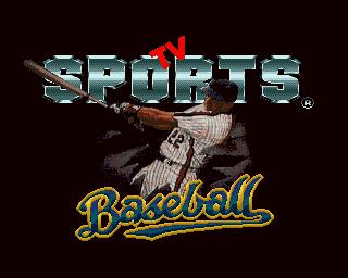 TV Sports: Baseball